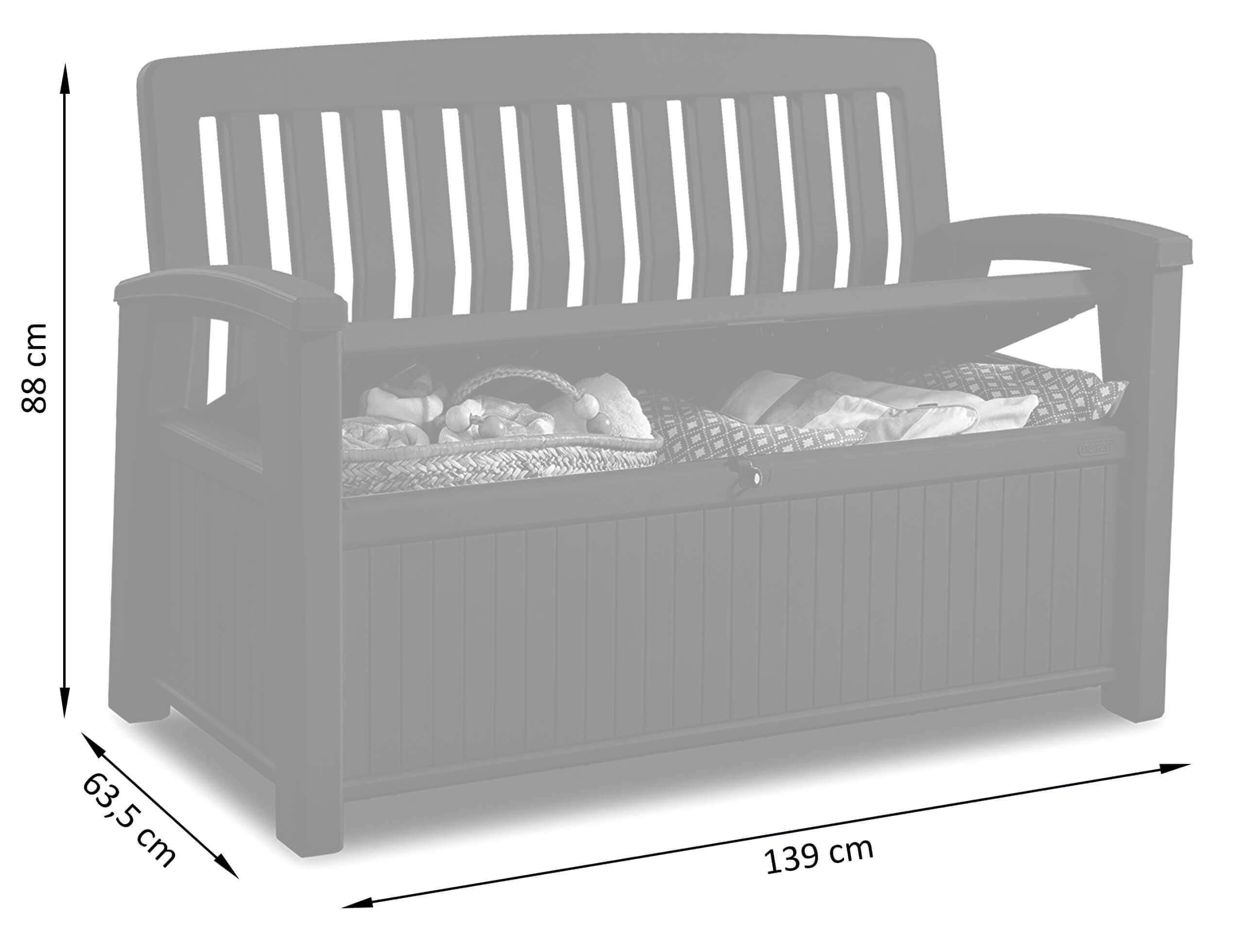 Wymiary ławki ogrodowej Patio Bench