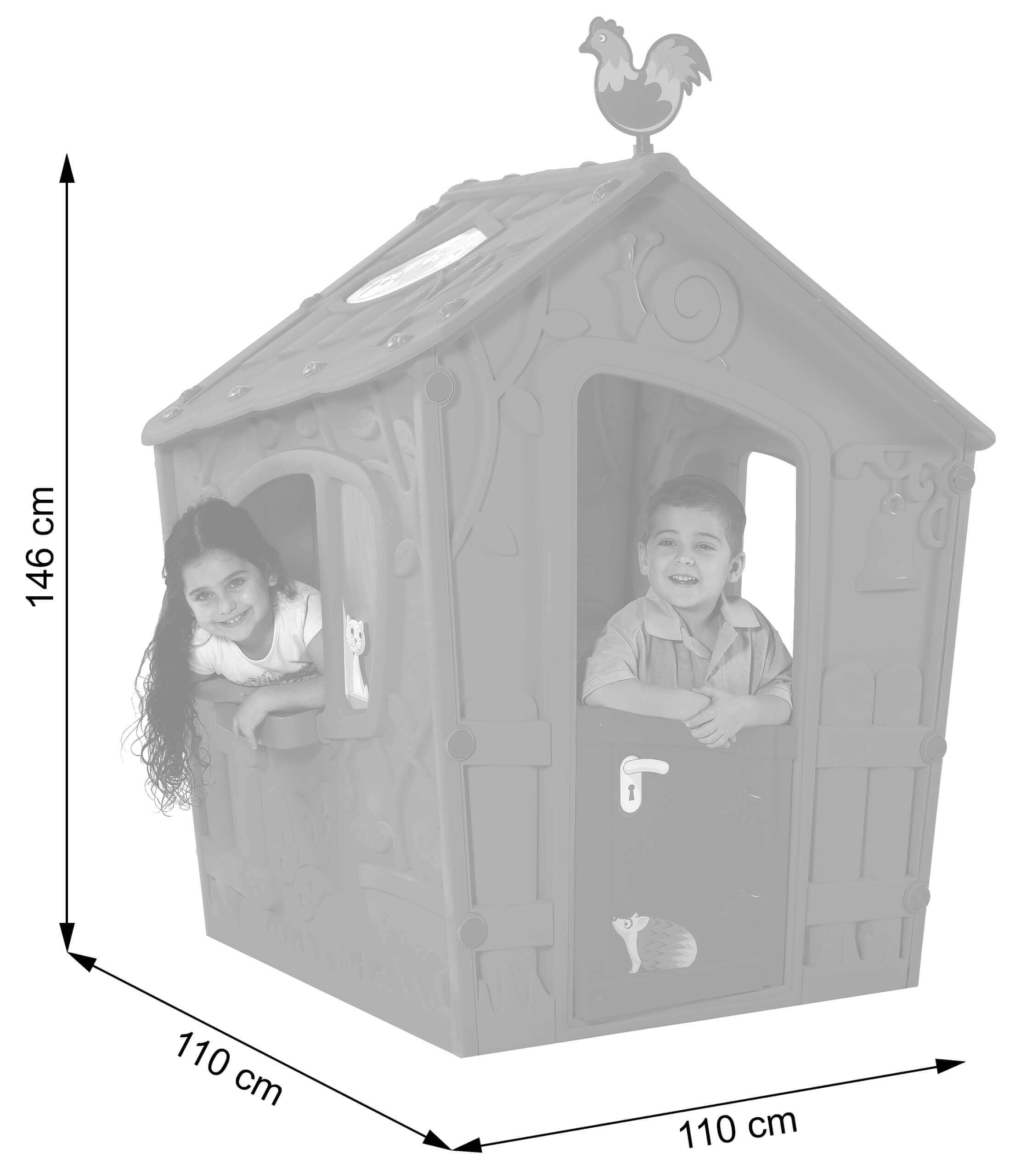 Wymiary domku ogrodowego dla dzieci Magic Playhouse