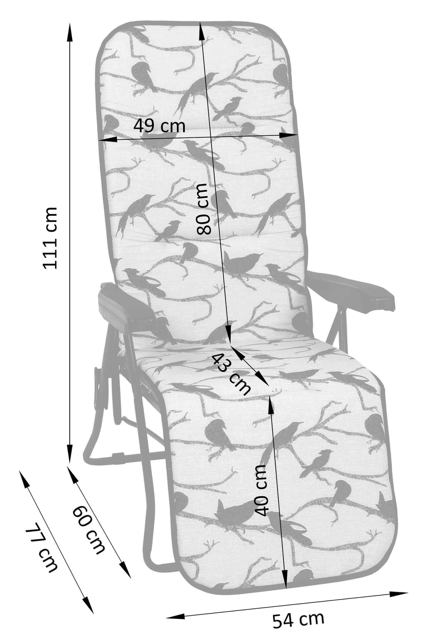 Wymiary pozycyjnego leżaka Sparta NEW