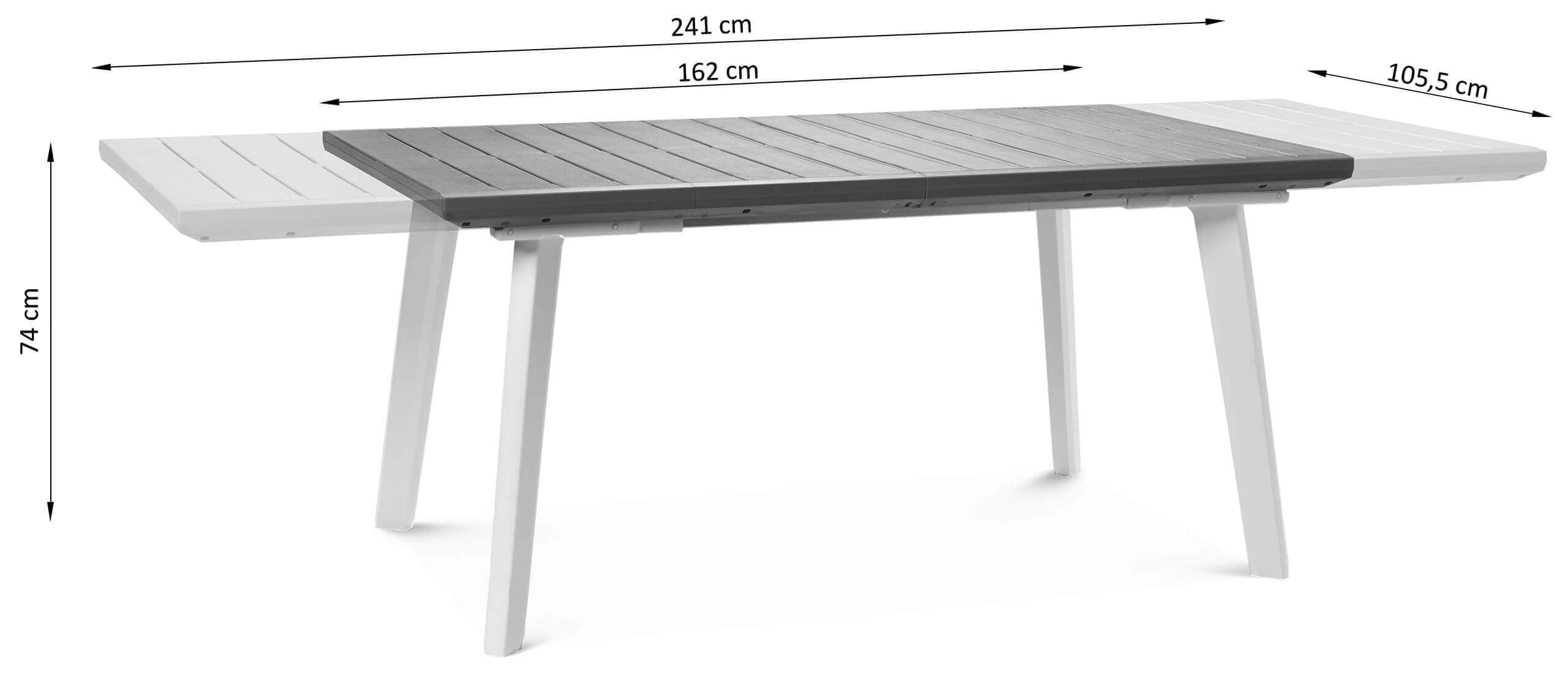Wymiary stołu rozkładanego Torino