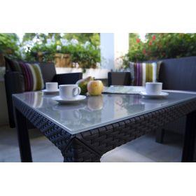 Stół ze szklanym blatem Sumatra 72x72
