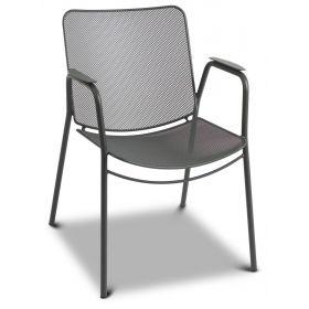 Niskie krzesło metalowe Antonio