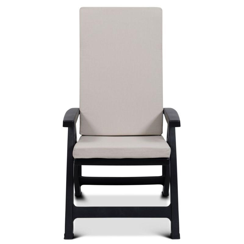 Dwuczęściowa poduszka na krzesło ogrodowe