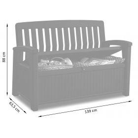 Keter Patio Storage Bench ławka ogrodowa z pojemnikiem