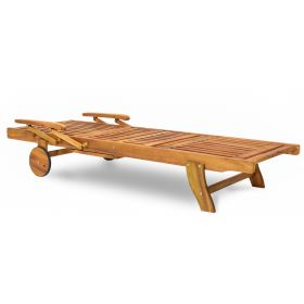 Leżanka Drewniana KENNEDY z półką