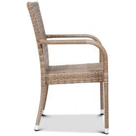 Krzesło restauracyjne z technorattanu RIMINI