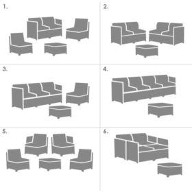 Modułowy Zestaw Mebli Ogrodowych Modus Set