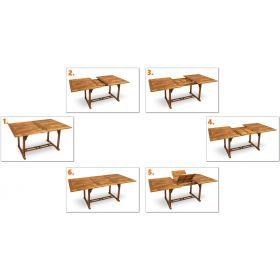 Meble Ogrodowe Drewniane Kennedy 200 6+1