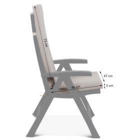 Poduszka Montreal na krzesło ogrodowe