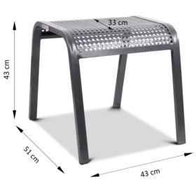 Podnóżek aluminiowy KORFU