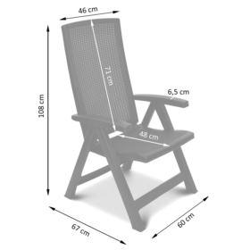 2x Krzesło składane Brasilia