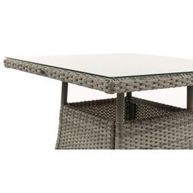 Stół z technorattanu Lugo 80x80