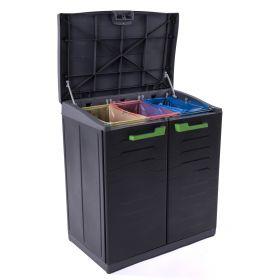 Szafa do segregacji odpadów MOBY Recykling System 3 komory