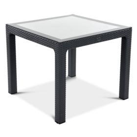 Stół CLASSI Glass Rattan 90G