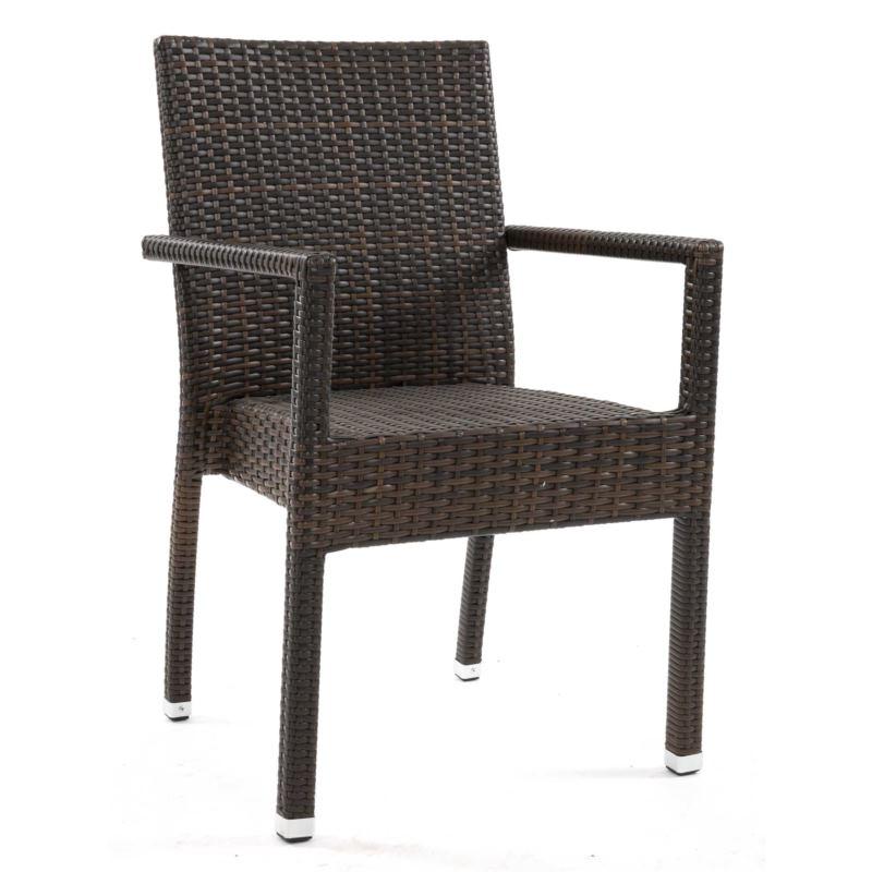 Krzesło z technorattanu CLARA
