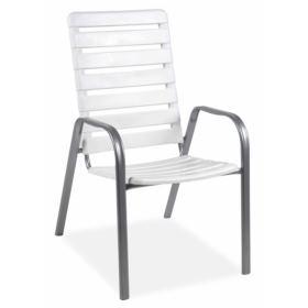 Krzesło sztaplowane ALPIN biel