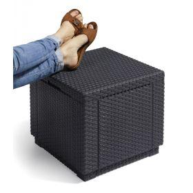 Pufa Schowek Cube z poduszką