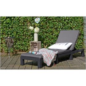 Leżak ogrodowy z poduszką Daytona