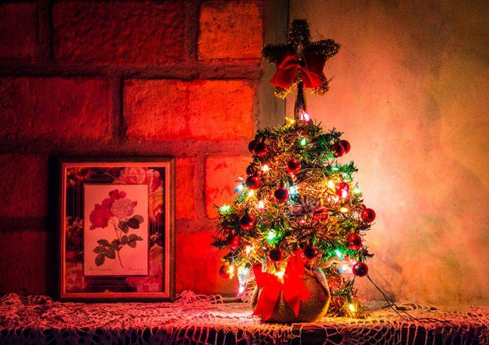 doniczka na choinkę świąteczna
