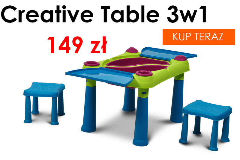 Creative table stolik 3w1