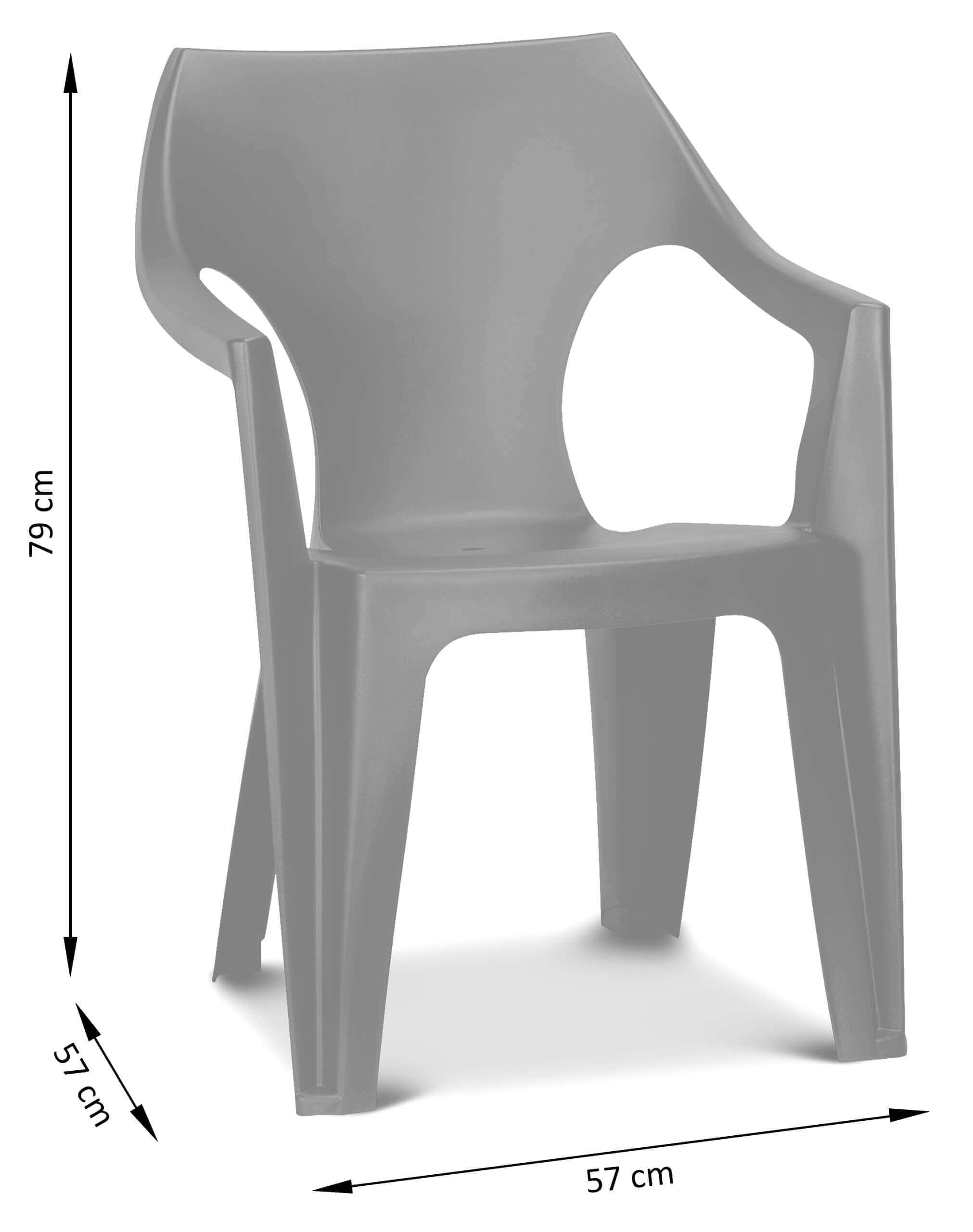 Wymiary krzesła ogrodowego Dante Low back
