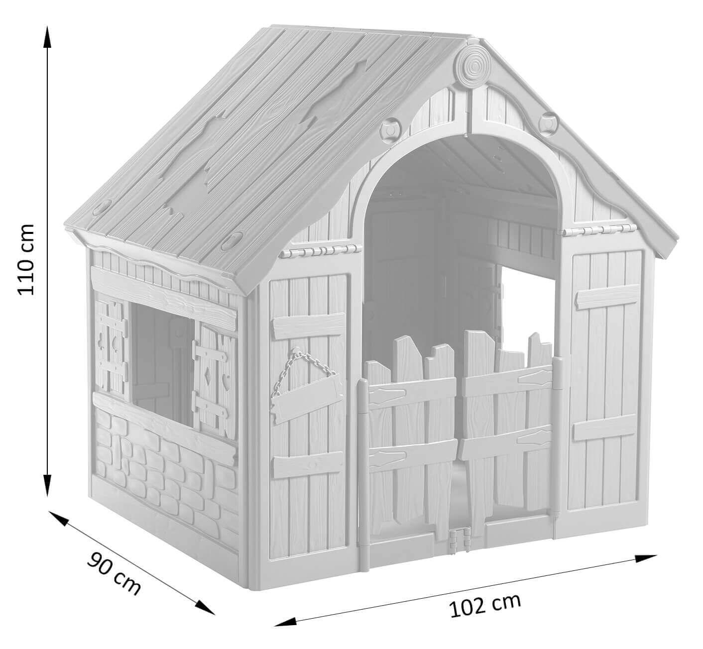 Wymiary domku dla dzieci Foldable